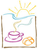 πρωί καφέδων Στοκ Εικόνες