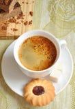 πρωί καφέ κέικ μπισκότων Στοκ φωτογραφίες με δικαίωμα ελεύθερης χρήσης