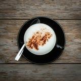 Πρωί καφέ στον ξύλινο πίνακα Στοκ Εικόνα