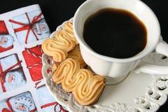 πρωί καφέ Χριστουγέννων Στοκ Εικόνες