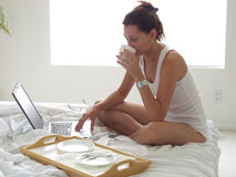 πρωί καφέδων latte Στοκ Εικόνες