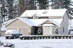 πρωί λευκό σαν το χιόνι στοκ φωτογραφία