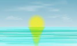 Πρωί πέρα από τον ήλιο θάλασσας Στοκ Εικόνες