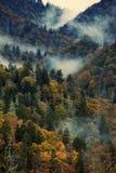 Πρωί στα καπνώδη βουνά στοκ εικόνες
