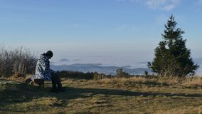 Πρωί στην κορυφή δύο χωρών - Wielka Racza στοκ εικόνες