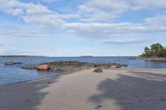 Πρωί στην παραλία ερήμων Στοκ Φωτογραφία