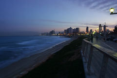 Πρωί στην παραλία του Τελ Αβίβ Στοκ εικόνα με δικαίωμα ελεύθερης χρήσης