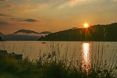 Πρωί στη λίμνη Walchensee στοκ εικόνες με δικαίωμα ελεύθερης χρήσης