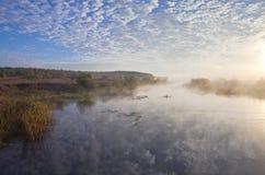 Πρωί στον ποταμό Στοκ Εικόνα