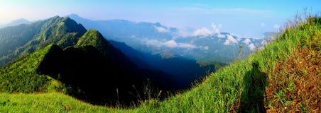 Πρωί στο βουνό στην Ταϊλάνδη Στοκ Εικόνες