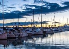 Πρωί στο λιμάνι Στοκ Εικόνες