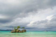 Πρωί στο νησί Boracay στοκ φωτογραφίες με δικαίωμα ελεύθερης χρήσης