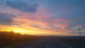 Πρωί στο δρόμο Στοκ Εικόνες