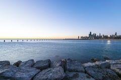 Πρωί στο Σικάγο Στοκ φωτογραφία με δικαίωμα ελεύθερης χρήσης