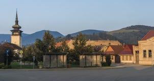 Πρωί στο χωριό Medzev κοντά στην πόλη Kosice στοκ εικόνα