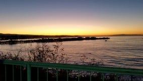 Πρωί στο santa cruz στοκ εικόνες με δικαίωμα ελεύθερης χρήσης