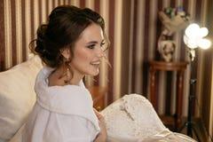 Πρωί της όμορφης νύφης Στοκ Εικόνες