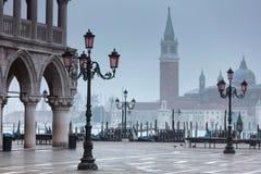 Πρωί της Misty Νοέμβριος στη Βενετία Στοκ Φωτογραφίες