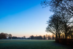 Πρωί της Misty στο πάρκο χώρας κοιλάδων Sandwell Στοκ φωτογραφία με δικαίωμα ελεύθερης χρήσης