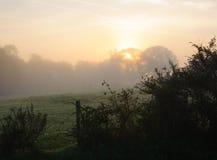 Πρωί της Misty το φθινόπωρο Στοκ φωτογραφία με δικαίωμα ελεύθερης χρήσης