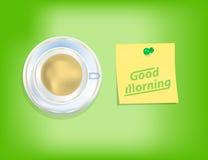 πρωί φλυτζανιών καφέ ελεύθερη απεικόνιση δικαιώματος