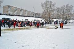 Πρωί Epiphany (Kreshchenya) στο Κίεβο, Ουκρανία, Στοκ εικόνα με δικαίωμα ελεύθερης χρήσης