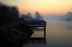 πρωί mysty Στοκ Φωτογραφία