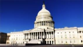 Πρωί Timelapse αμερικανικής Capitol οικοδόμησης απόθεμα βίντεο