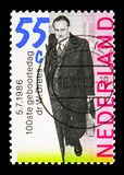 Πρωθυπουργός του Willem Drees γιατρών (1886-1988), serie, circa 1986 Στοκ Εικόνα