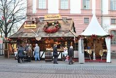 πρωινή αγορά Χριστουγέννω&nu Στοκ εικόνες με δικαίωμα ελεύθερης χρήσης