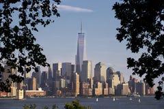 Πρωινή φωτογραφία του ορίζοντα πόλεων της Νέας Υόρκης Στοκ φωτογραφία με δικαίωμα ελεύθερης χρήσης