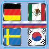 πρωτάθλημα Ποδόσφαιρο Γραφικές σημαίες Realistic Football ομάδας Γ Στοκ Εικόνες