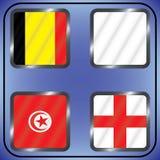 πρωτάθλημα Ποδόσφαιρο Γραφικές σημαίες Realistic Football ομάδας Γ Στοκ φωτογραφίες με δικαίωμα ελεύθερης χρήσης