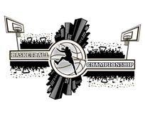 Πρωτάθλημα καλαθοσφαίρισης λογότυπων Στοκ φωτογραφία με δικαίωμα ελεύθερης χρήσης