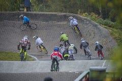 Πρωτάθλημα κυκλωμάτων στην ανακύκλωση bmx Στοκ εικόνα με δικαίωμα ελεύθερης χρήσης