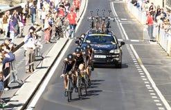 Πρωτάθλημα οδικών κόσμων UCI, Φλωρεντία 2013.Team Velociosports, ο νικητής της φυλής Στοκ εικόνα με δικαίωμα ελεύθερης χρήσης