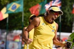Πρωτάθλημα 2015 παγκόσμιας ομάδας αντισφαίρισης παραλιών Στοκ εικόνα με δικαίωμα ελεύθερης χρήσης