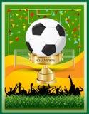 Πρωτάθλημα φλυτζανιών ποδοσφαίρου νικητών Στοκ φωτογραφία με δικαίωμα ελεύθερης χρήσης
