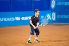 Πρωταθλήματα αντισφαίρισης για τα βραβεία της Elena Vesnina Στοκ Φωτογραφία
