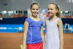 Πρωταθλήματα αντισφαίρισης για τα βραβεία της Elena Vesnina Στοκ φωτογραφίες με δικαίωμα ελεύθερης χρήσης