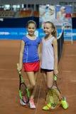 Πρωταθλήματα αντισφαίρισης για τα βραβεία της Elena Vesnina Στοκ Εικόνα