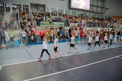 Πρωταθλήματα αντισφαίρισης για τα βραβεία της Elena Vesnina Στοκ φωτογραφία με δικαίωμα ελεύθερης χρήσης
