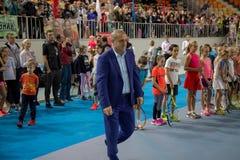 Πρωταθλήματα αντισφαίρισης για τα βραβεία της Elena Vesnina Στοκ Εικόνες
