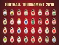 Πρωταθλήματα 2018 ποδοσφαίρου Στοκ εικόνα με δικαίωμα ελεύθερης χρήσης