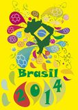 Πρωταθλήματα Βραζιλία 2014 ποδοσφαίρου ποδοσφαίρου Στοκ Φωτογραφία