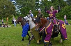 2 πρωταθλήματα ιπποτών Στοκ Εικόνα