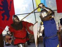 2 πρωταθλήματα ιπποτών Στοκ Εικόνες