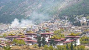 Πρωτεύουσα Thimphu της χώρας κοιλάδων του Μπουτάν Στοκ Εικόνα