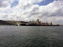 Πρωτοποριακό πνεύμα, το σκάφος παγκόσμιας ` s μεγαλύτερο κατασκευής, για την εγκατάσταση ενιαίος-ανελκυστήρων, την αφαίρεση του μ Στοκ φωτογραφίες με δικαίωμα ελεύθερης χρήσης