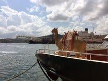 Πρωτοποριακό πνεύμα, το σκάφος παγκόσμιας ` s μεγαλύτερο κατασκευής, για την εγκατάσταση ενιαίος-ανελκυστήρων, την αφαίρεση του μ Στοκ Φωτογραφίες
